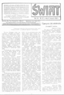 Świat : pismo tygodniowe ilustrowane poświęcone życiu społecznemu, literaturze i sztuce. R. 9 (1914), nr 32 (8 sierpnia)