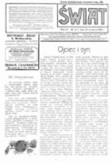 Świat : pismo tygodniowe ilustrowane poświęcone życiu społecznemu, literaturze i sztuce. R. 9 (1914), nr 39 (26 września)