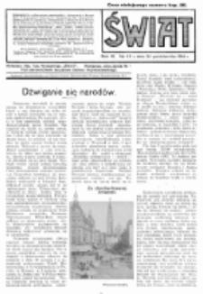 Świat : pismo tygodniowe ilustrowane poświęcone życiu społecznemu, literaturze i sztuce. R. 9 (1914), nr 43 (24 października)