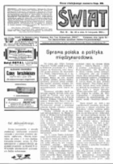 Świat : pismo tygodniowe ilustrowane poświęcone życiu społecznemu, literaturze i sztuce. R. 9 (1914), nr 46 (14 listopada)