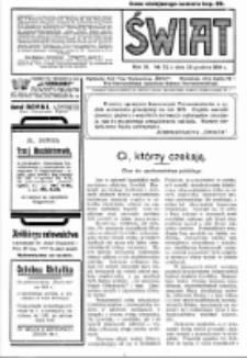 Świat : pismo tygodniowe ilustrowane poświęcone życiu społecznemu, literaturze i sztuce. R. 9 (1914), nr 52 (26 grudnia)