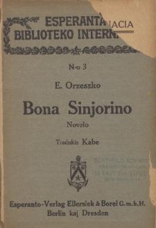 Bona Sinjorino : novelo.