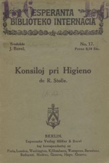 Konsiloj pri Higieno de R. Stolle.