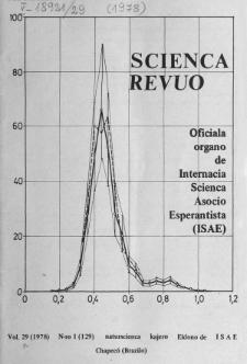 Sceinca Revuo. Vol. 29, no 1 (1978)