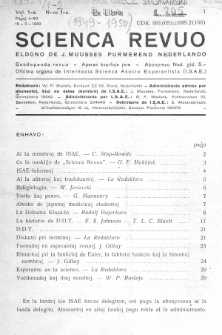 Scienca Revuo. Vol. 1, no. 1 (1949)