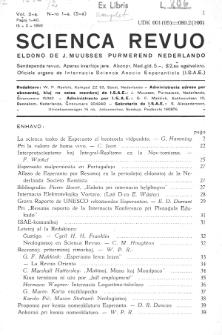 Scienca Revuo. Vol. 2, no 1 (1950)