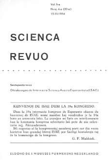 Sceinca Revuo. Vol. 5, no 4 (1953)