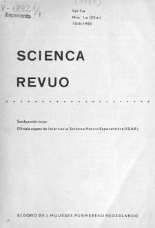 Scienca Revuo. Vol. 7, no 1 (1955)