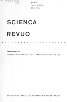 Sceinca Revuo. Vol. 8, no 1 (1956/1957)