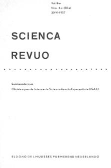 Sceinca Revuo. Vol. 8, no 4 (1956/1957)
