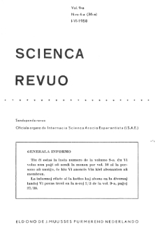 Sceinca Revuo. Vol. 9, no 4 (1957/1958)