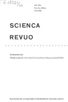 Sceinca Revuo. Sceinca Revuo. Vol. 10, no 4 (1958/1959)