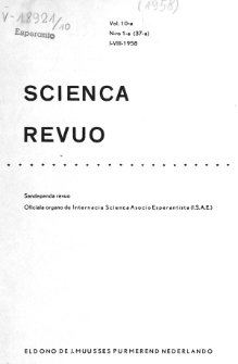 Sceinca Revuo. Sceinca Revuo. Vol. 10, no 1 (1958/1959)