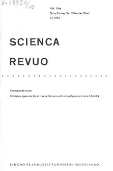 Sceinca Revuo. Sceinca Revuo. Vol. 10, no 2/3 (1958/1959)