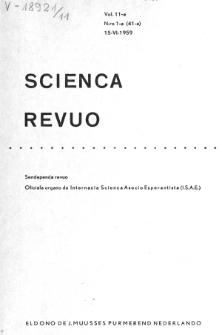 Sceinca Revuo. Vol. 11, no 1 (1959/1960)