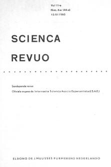 Sceinca Revuo. Vol. 11, no 4 (1959/1960)