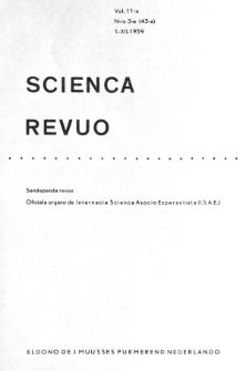 Sceinca Revuo. Vol. 11, no 3 (1959/1960)