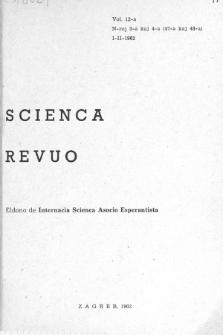 Scienca Revuo. Vol. 12, no 3/4 (1961/1962)