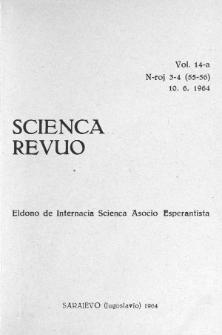 Sceinca Revuo. Vol. 14, no 3/4 (1964)