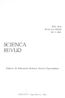 Sceinca Revuo. Vol. 15, no 3/4 (1965)