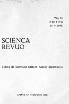 Scienca Revuo. Vol. 16, no 1 (1966)