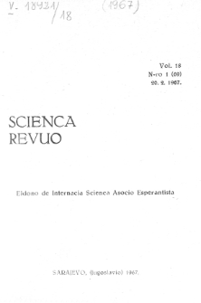 Sceinca Revuo. Vol. 18, no 1 (1967)