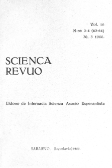 Scienca Revuo. Vol. 16, no 3/4 (1966)
