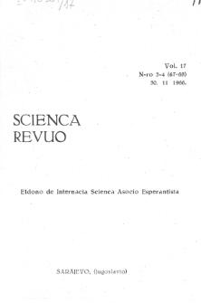 Sceinca Revuo. Vol. 17, no 3/4 (1966)