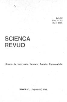 Sceinca Revuo. Vol. 20, no 2 (1969)