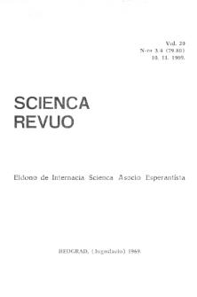 Sceinca Revuo. Vol. 20, no 3/4 (1969)