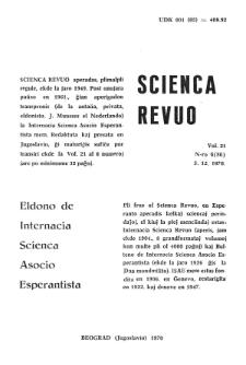 Sceinca Revuo. Vol. 21, no 6 (1970)