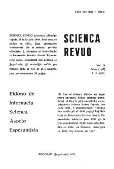 Sceinca Revuo. Vol. 22, no 1 (1971)