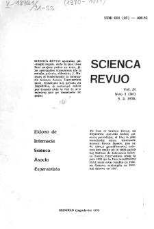 Sceinca Revuo. Vol. 21, no 1 (1970)