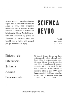 Sceinca Revuo. Vol. 22, no 3 (1971)