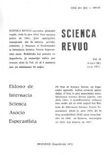 Sceinca Revuo. Vol. 23, no 4 (1972)