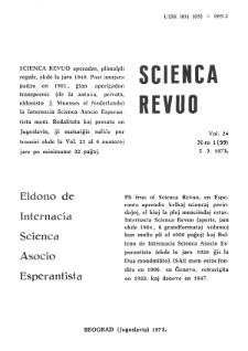 Sceinca Revuo. Vol. 24, no 1 (1973).