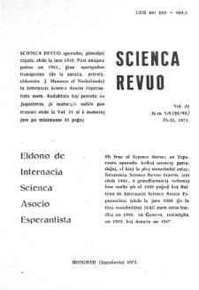 Sceinca Revuo. Vol. 22, no 5/6 (1971)