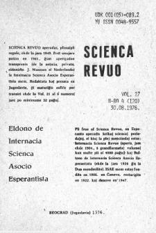 Sceinca Revuo. Vol. 27, no 4 (1976)