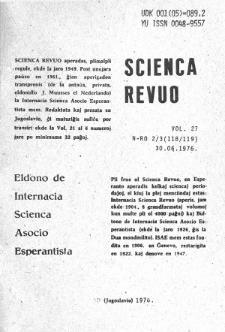 Sceinca Revuo. Vol. 27 , no 2/3 (1976)