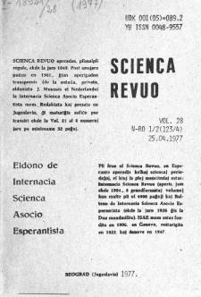 Sceinca Revuo. Vol. 28, no 1/2 (1977)