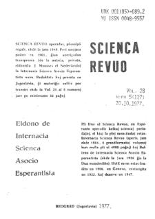 Sceinca Revuo. Vol. 28, no 5 (1977)