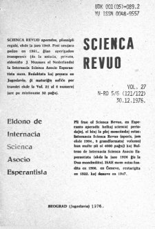 Sceinca Revuo. Vol. 27, no 5/6 (1976)