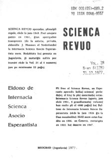 Sceinca Revuo. Vol. 28, no 6 (1977)