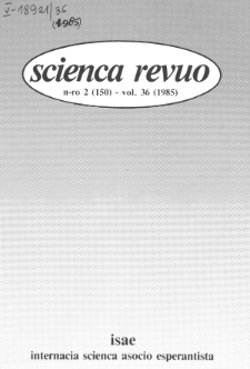Sceinca Revuo. Vol. 36, no 2 (1985)