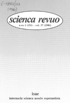 Sceinca Revuo. Vol. 37, no 1 (1986)