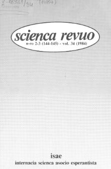 Scienca Revuo. Vol. 34, no 2/3 (1983)