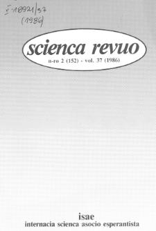 Sceinca Revuo. Vol. 37, no 2 (1986)