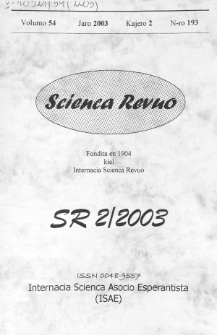 Sceinca Revuo. Vol. 54, no 2 (2003)
