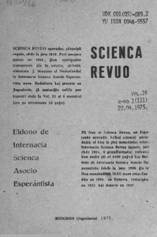 Sceinca Revuo. Vol. 26, no 1 (1975)