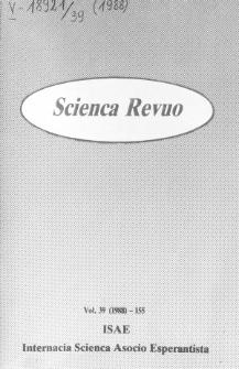 Scienca Revuo. Vol. 39 (1988)